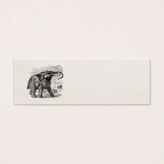 Vintage Woolly Mammoth Personalized Extinct Animal Mini Business Card