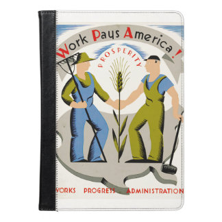 Vintage Work Pays America WPA Poster iPad Air Case