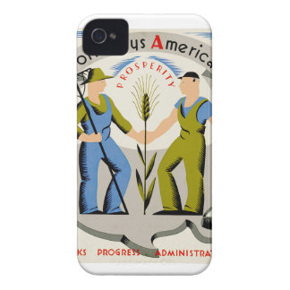 Vintage Work Pays America WPA Poster iPhone 4 Cover