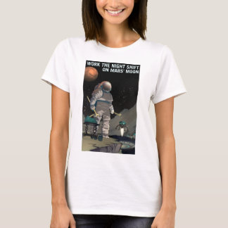 Vintage Work the Night Shift Mars Recruitment T-Shirt