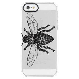 Vintage Worker Bee Illustration Clear iPhone SE/5/5s Case