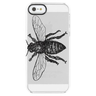 Vintage Worker Bee Illustration Uncommon Clearly™ Deflector iPhone 5 Case