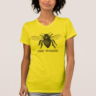 Vintage Worker Bee Illustration T Shirt