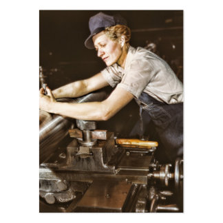 Vintage Worker Woman Hang Tag Business Card