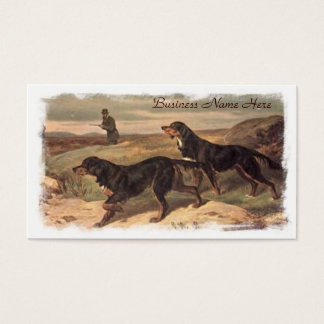 Vintage Working Gordon Setters Business Cards