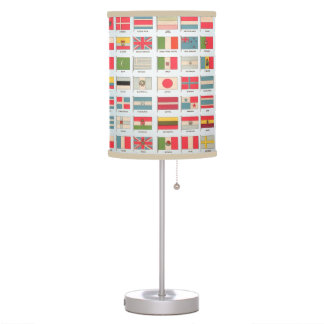 Vintage World Flags Lamp