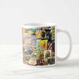 vintage world labels classic white coffee mug