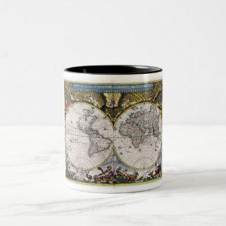 Vintage World Map (1664) Mug