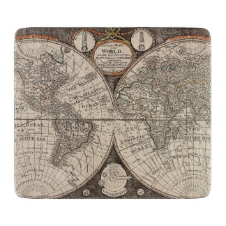 Vintage World Map (1766) Cutting Board