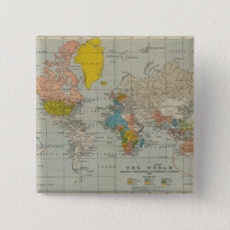Vintage World Map 1910 Button