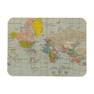Vintage World Map 1910 Magnet