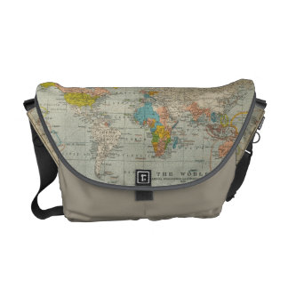 Vintage World Map 1910 Courier Bags
