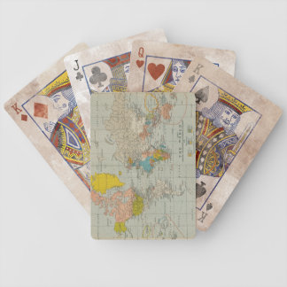 Vintage World Map 1910 Bicycle Playing Cards