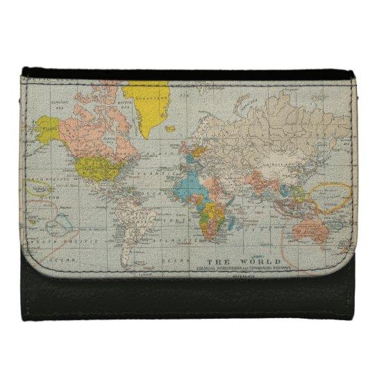 Vintage World Map 1910 Wallet