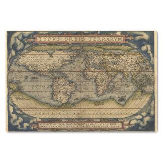 "Vintage World Map Antique Atlas 10"" X 15"" Tissue Paper"