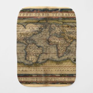 Vintage World Map Antique Atlas Burp Cloth