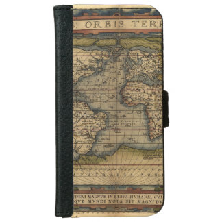 Vintage World Map Antique Atlas iPhone 6 Wallet Case