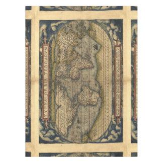 Vintage World Map Antique Atlas Tablecloth