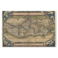 Vintage World Map Antique Atlas