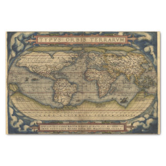 Vintage World Map Antique Atlas Tissue Paper