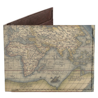 Vintage World Map Antique Atlas Tyvek® Billfold Wallet