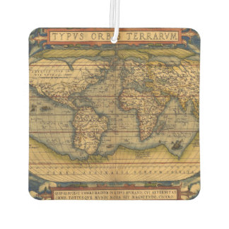 Vintage World Map Antique Travel Air Freshener