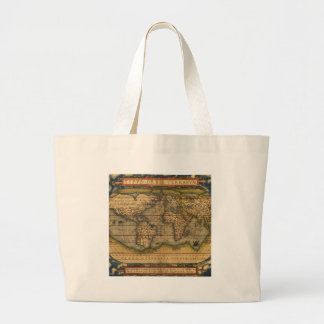 Vintage World Map Antique Travel Large Tote Bag
