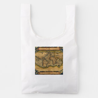 Vintage World Map Antique Travel Reusable Bag