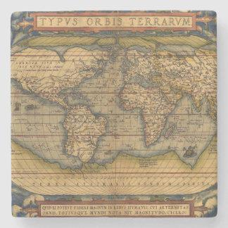 Vintage World Map Antique Travel Stone Coaster