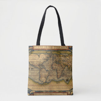 Vintage World Map Antique Travel Tote Bag