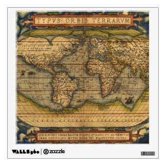 Vintage World Map Antique Travel Wall Decal