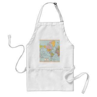 Vintage World Map Apron