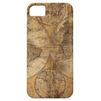 Vintage World Map Atlas iPhone 5 Cases