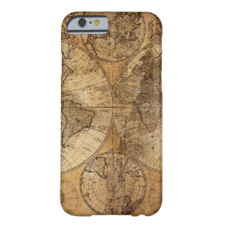 Vintage World Map Atlas Barely There iPhone 6 Case