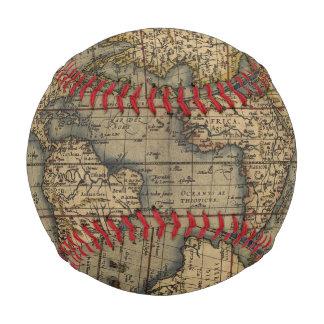 Vintage World Map Atlas Historical Design Baseball