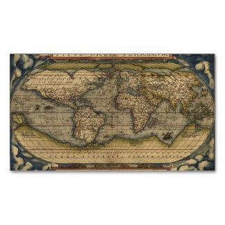 Vintage World Map Atlas Historical Design Business Card Magnet