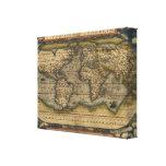 Vintage World Map Atlas Historical Design Gallery Wrap Canvas