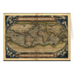 Vintage World Map Atlas Historical Design Greeting Cards