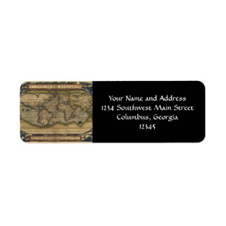 World Map Shipping Address Return Address Labels Zazzle - Georgia map label