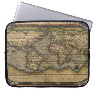 Vintage World Map Atlas Historical Design Laptop Sleeve