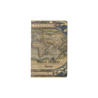 Vintage World Map Atlas Historical Design Pocket Moleskine Notebook