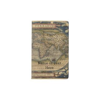 Vintage World Map Atlas Historical Design Pocket Moleskine Notebook