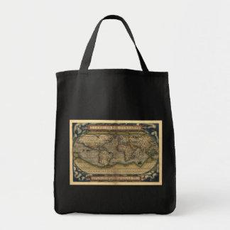 Vintage World Map Atlas Historical Design Tote Bag