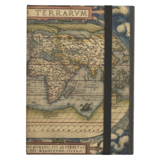 Vintage World Map Atlas Historical Cover For iPad Air