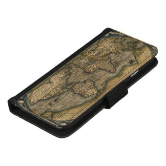 Vintage World Map Atlas Historical iPhone 8/7 Wallet Case