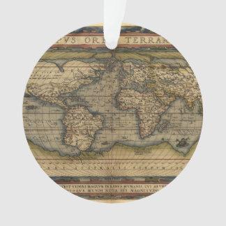 Vintage World Map Atlas Historical Ornament