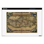 Vintage World Map Atlas Laptop Skin
