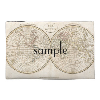 Vintage World Map Travel Accessories Bag