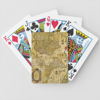 Vintage World Map Bicycle Playing Cards