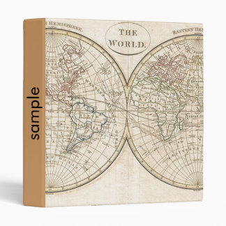 Vintage World Map Binder
